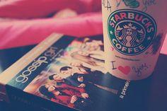 StarBucks and watching Gossip Girl♥:)