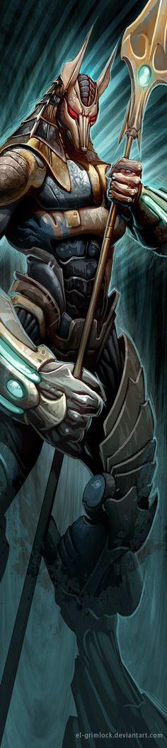 Imagen del 2006, para unas tablas de snowboard, hace unos años subí una versión con mucho zoom, Tengo otras imágenes de el mismo dios, pero esta me sigue gustando porque tiene ese look a Quake 3 re...