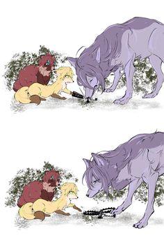 Cute Wolf Drawings, Animal Drawings, Anime Manga, Anime Guys, Anime Art, Otaku, Wolf Comics, Anime Crying, Fanart