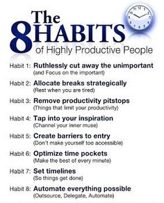 8 Habits #productivity #habits