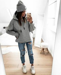 20 Tips for Who Want To Wear Business Casual Jeans Women Teenager Outfits, College Outfits, New Outfits, Fall Outfits For Teen Girls, Winter Fashion Outfits, Fall Winter Outfits, Mode Grunge, Mode Ootd, Jugend Mode Outfits