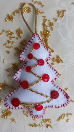 Want to know more about DIY Christmas Ideas Felt Christmas Decorations, Christmas Ornament Crafts, Felt Ornaments, Felt Crafts, Handmade Christmas, Handmade Felt, Holiday Crafts, Christmas Crafts, Christmas Ideas