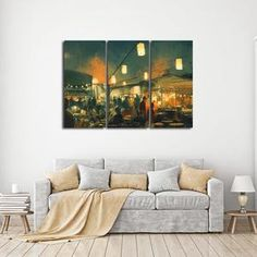 Awesome Moon Cycle Multi Panel Canvas Wall Art | Astronomy | Pinterest | Canvases,  Walls And Modern