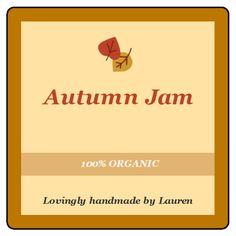 Customizable Thanksgiving Jam Jar Labels.