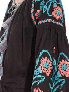 Vita Kin Marigold-embroidered long dress