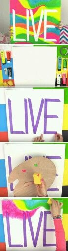 DIY colour board~  When I did myne I did the actual word in a sharpie or pen. (Doesnt have to say live it can say anything)