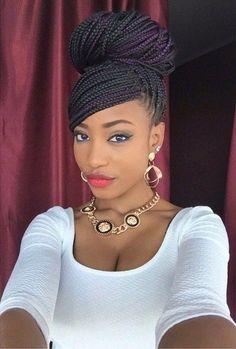 Afro braids style