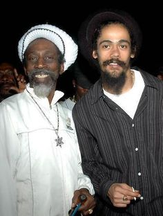 The legendary Bunny Wailer and Damian Marley.  You know, I spent half an afternoon in Kansas City with Bunny Wailer backstage at a concert and it wasn't until the next day I realized who he was!!!  HELLO!!