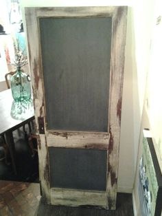 Repurpose an old door as a chalk board. Found at Market Central