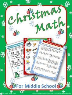 This is a resource packet full of fun, engaging math activities for the students to work through during the Christmas season. This packet is great to use to fill in those last days of school before the Christmas holiday break.