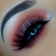 Huda beauty desert Dusk palette eye makeup - Instagram: @makeupbykaatiex #arabicmakeup