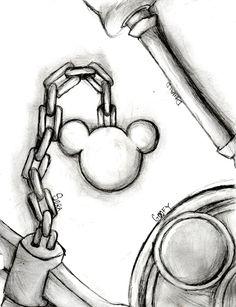 Kingdom Hearts keyblade chain