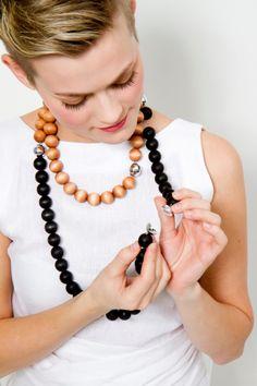 Magnetic fun - Ilmatar necklaces by Aarikka.