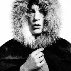 John Malkovich / Mick Jagger in a fur hood (1964)