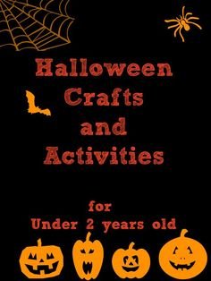 Simple Halloween Crafts and Activities ideal for toddlers and young preschoolers.
