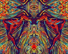 Art of #ShahyarVaseghi #Visionary Art #trippy #Psychedelic