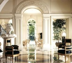 Great arch and walkways ...good entry to a dining room or great room...great flow for parties