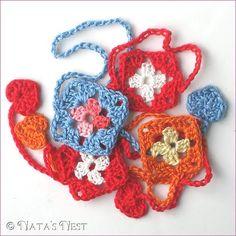 Mini granny (bookmark), FREE pattern.
