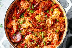 An authentic Creole Jambalaya recipe! A delicious one-pot meal coming to you from New Orleans is pure comfort food filled to the brim with chicken shrimp andouille sausage rice seasonings spices and incredible flavours! Ready and on the table in 45 m Cajun Cooking, Cooking Recipes, Healthy Recipes, Donut Recipes, Creole Cooking, Cajun Food, Authentic Creole Jambalaya Recipe, Best Jambalaya Recipe, Jambalaya Recipe Creole