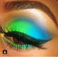 Green and blue eyeshadow