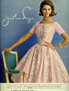 Jonathan Logan was the clothes line to buy for the teen of the 60's Seventeen Magazine 1961