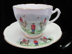 Vintage  RCMP Souvenier Cup and Saucer Made by by Cupsofthepast, $25.00