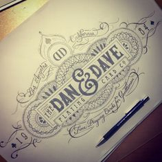 Dan and Dave crest by Tobias Hall, via Behance