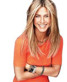 Jennifer Aniston, 43, maintains her sleek bikini body by running and doing yoga and Pilates 5-6 days a week.