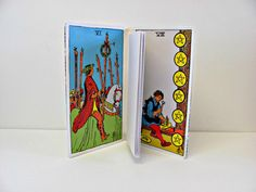 Tarot cards notebook  Upcycled occult by ClaireWheatDesigns