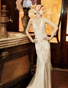 art deco wedding gown pics | Sitges 1920s Wedding Dress by Yolan Cris – from the Revival Vintage ...