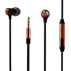 Reiko Bass In Ear Headphones With Mic In Orange