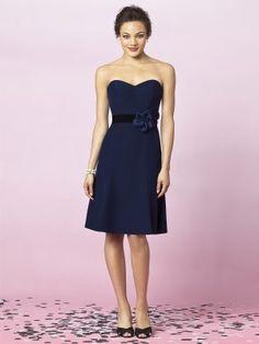 Prinzessin Herzförmig verschönert Knielang Dunkel Blau Brautjungfer Kleid Brautkleider