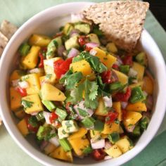 Ensalada de nopales and mango (Cactus and mango salad). ~ETS