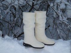 """Купить Валенки """"Снегурочка"""" - белый, валенки, валенки для улицы, валенки ручной валки"""