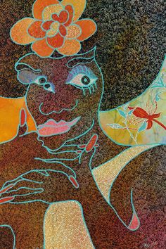 Chris Ofili, Blossom 1997, © Chris Ofili Photo: Contemporary Fine Arts, Berlin
