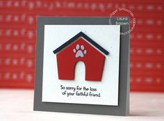 Paper Smooches~Lucky Dog stamps, Dog Icons dies by L. Bassen, via Flickr