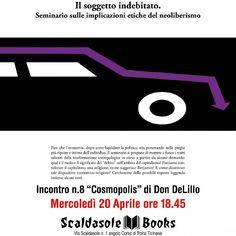 """Mercoledì 20/04 Seminario su """"Cosmopolis"""" di Don DeLillo http://bit.ly/CosmopolisDeLillo"""