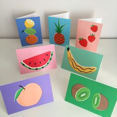 Illustrator Ruby Taylor's colourful card designs for Wrap magazine