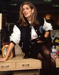 Three  pics of Cindy C's want-now 90s outerwear