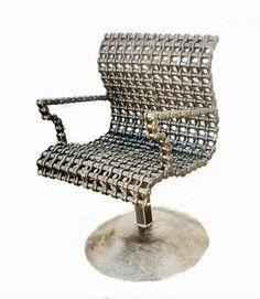 Custom Made Studio Furniture Metal Chair Industrial Art Chic Style Furniture