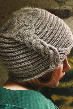 This hat, made of alpaca, has the most creative method for creating a cable.  Two strands twisted around and sewn at each edge.  Why didn't I think of this earlier?