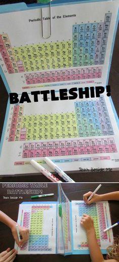 Periodic Table Battleship!  http://www.huffingtonpost.com/entry/mom-creates-periodic-table-battleship-game-to-teach-her-kids-chemistry_5697f3d4e4b0b4eb759da83b