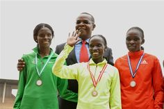 Sally Kipyego, Vivian Cheruiyot and Joyce Chepkirui in Nairobi with Kenyan Sports Minister Dr. World Athletics, Nairobi, Olympic Games, Sally, Olympics, Athlete, Windbreaker, Sports, Hs Sports