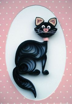 Image result for quilling cats