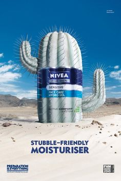 NIVEA FOR MEN: Cactus, Nivea For Men, DraftFCB London, Nivea, Print, Outdoor, Ads