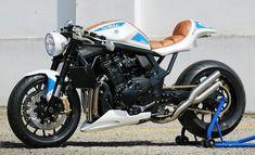 Visit a variety of my most favorite builds - custom scrambler concepts like this Suzuki Cafe Racer, Cafe Racer Seat, Cafe Racer Build, Cafe Racer Motorcycle, Motorcycle Design, Bike Design, Modern Cafe Racer, Cafe Racer Style, Custom Cafe Racer