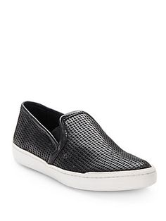 Perforated Faux Leather Slip-On Sneakers - SaksOff5th
