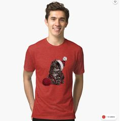 Cat Tri-blend T-Shirt Female Models, Tee Shirts, Cats, Fabric, Mens Tops, Cotton, How To Wear, Stuff To Buy, Women
