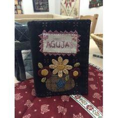 Authentic Kit Guarda Agujas Aplicaciones Lana (patron + telas)