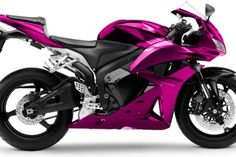 Pink motorcycle Honda cbr600rr. I don't think I would ever get a pink bike, but this is pretty rad nonetheless.